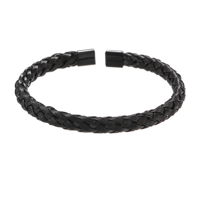Bracelet Or/acier inoxydable titane hommes 3