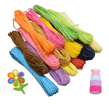 60m Colorful Paper Rope Diy Handmade Ropes Gift Box Packaging Twisted Scrapbooking Wedding Birthday Party Decoration