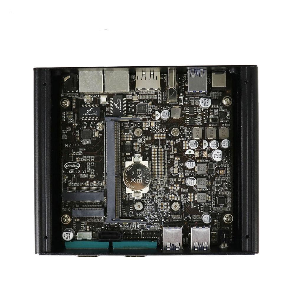 Hot Dual Core Intel I5 7200U Barebone Mini Pc With Intel Graphics 620 4*USB3.0 4*USB 2.0 4G RAM 128G SSD