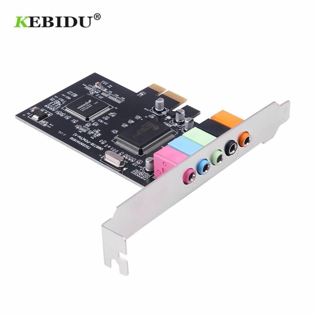 KEBIDU PCI Sound Card 5.1CH CMI8738 Chipset Audio Digital Sound Card Desktop Pci Sound Card TXC090|Sound Cards| - AliExpress