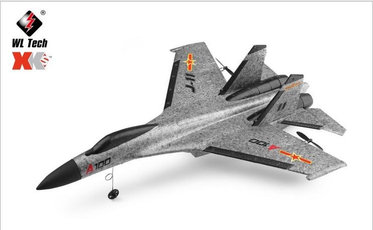 Weili XK A100 Three-Channel Like Really Remote Control Aircraft Su-27 Military Aviation Model J-11 Training