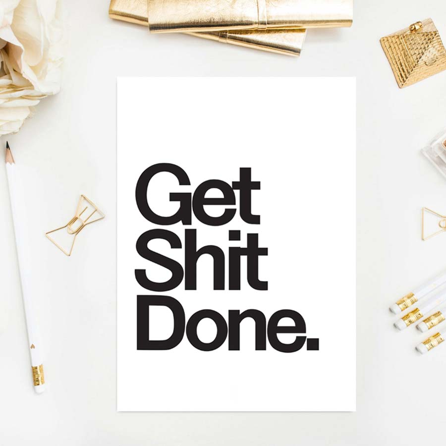 Get Shit Done Quote Canvas Painting Poster, Wall Pictures For Living Room Decoration, Wall Decor