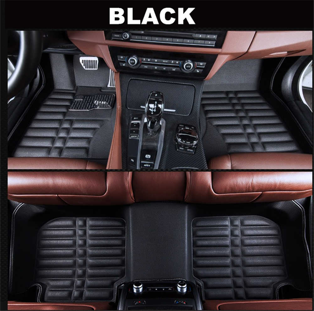 SJ 3D Waterproof Custom Car Floor Mats Front & Rear FloorLiner Styling Auto Carpet Mat FIT For Mitsubishi OUTLANDER 2017 2018 19