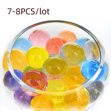 Big Crystal Soil Mud Hydrogel Gel Kids Children Toy Water Beads Growing Up Orbiz Water Balls Wedding Home Decor 7-8pcs/lot F(China)