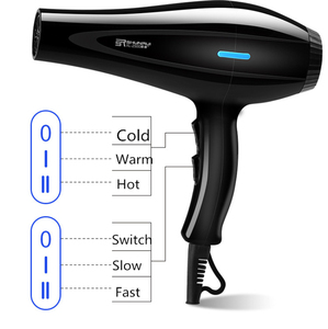 Image 2 - 220V Hair Dryer Blow Air with Concentrator Nozzles Diffuser Comb Brush Salon Household Hairdryer Blower Hair Styling Tool D35