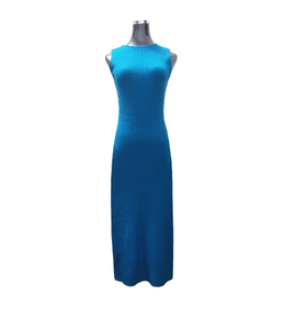 Image 5 - Robe pull deux pièces pour femme, tenue gilet moulante, tricotée, ample, col roulé, haut court et longue fendue, automne et hiver