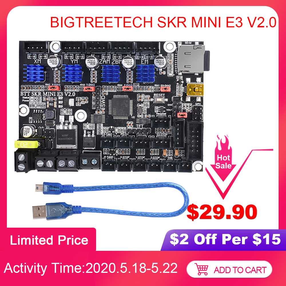 BIGTREETECH SKR Mini E3 V2.0 Control Board With TMC2209 UART 3D Printer Parts For Creality Ender 3/5 CR10 SKR V1.4 VS TMC2208