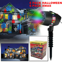 Halloween Christmas Window Garden Projector Lawn Laser Projection Pumpkin Light Holiday Party Xmas Lights Lamp Lighting Decor|Holiday Lighting| |  -