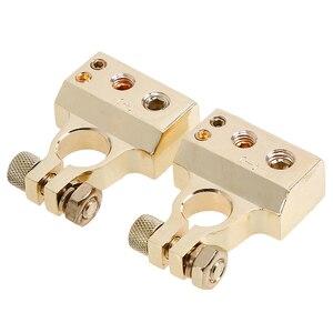 Image 5 - POSSBAY 1 para akumulator samochodowy złącze zacisk klamrowy stop metali dodatni ujemny samochód ciężarowy Auto części do pojazdu zaciski do akumulatora