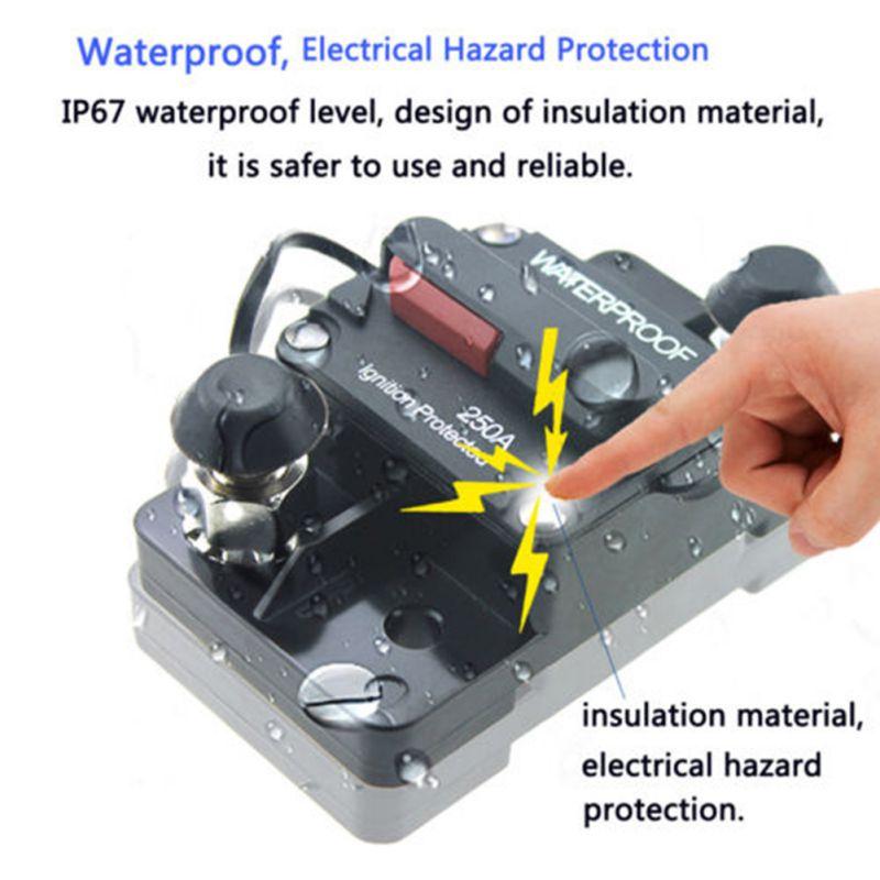 Автоматический выключатель 12-48 В постоянного тока, водонепроницаемый, 2020 30A 40A 50A 60A 70A 80A 100A 120A 150A 200A 250A 300A