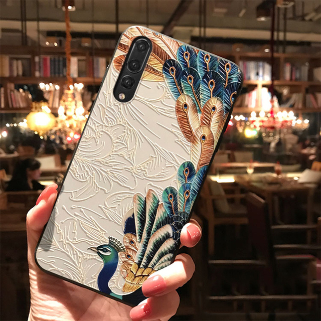 3D Emboss TPU Case For Huawei P Smart 2020 2019 P40 P30 P20 Honor X10 9A 9S 8X 9X 10i 20 10 9 Lite Pro Y6 Y7 Y9 Flower Cover Bag 3