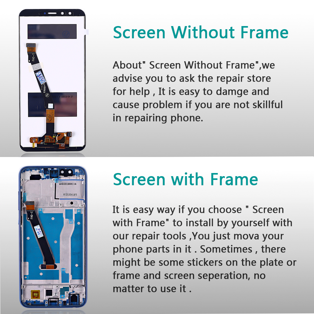 Huawei Honor 9 lite 5 65 inch lcd Display Huawei Honor 9 Youth Edtion Touch screen Huawei Honor 9 lite 5.65 inch lcd Display Huawei Honor 9 Youth Edtion Touch screen Digitizer Assembly Frame with Free Tools