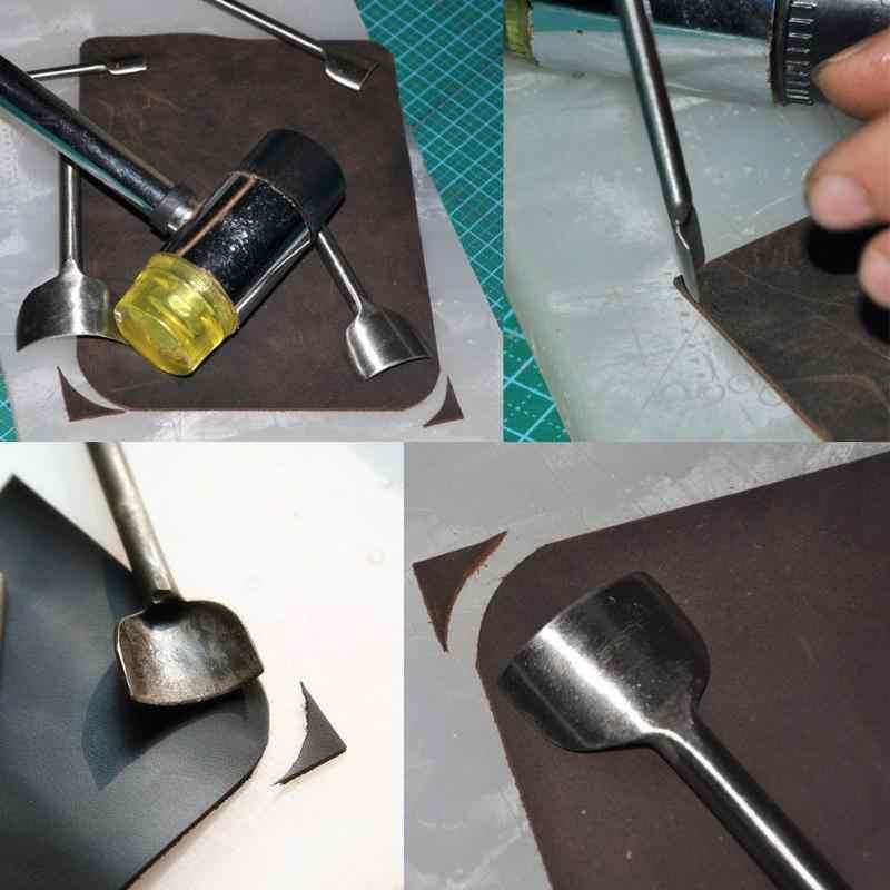 1PC 10-50MM Leder Handwerk Half-Runde Cutter Punch Werkzeuge DIY Leder Gürtel Brieftasche Strap Rindsleder schläge Set Leathercraft Werkzeuge