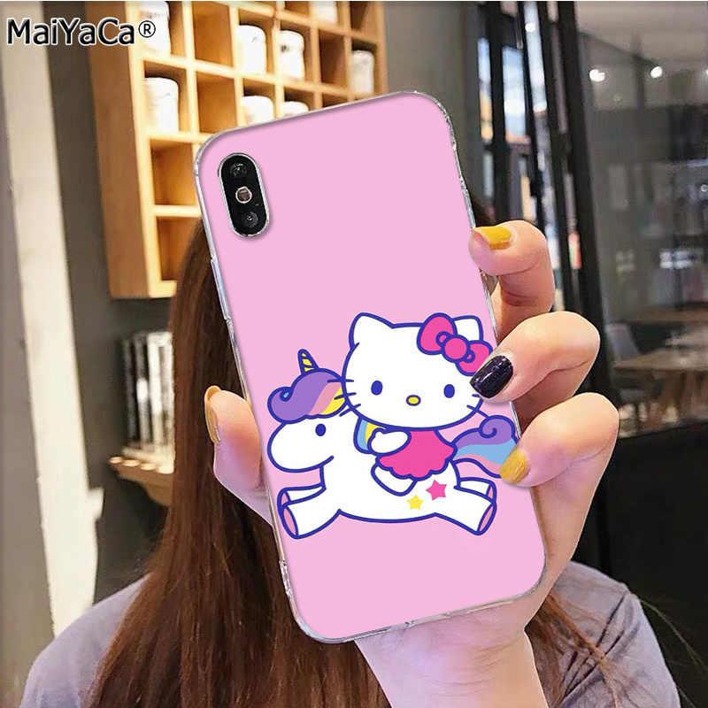 MaiYaCa ホットファッショナブルなハローキティに販売電話アクセサリーカバーのために iphone 11 プロ 8 7 66S プラス X 5S 、 SE XR XS XS 最大カバー
