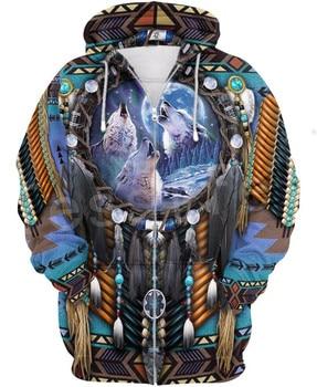 Tessffel Indian Native culture Harajuku Casual Colorful Tracksuit New Fashion 3DPrint Unisex Hoodie/Hoodies/Zipper Men Women s-4 2