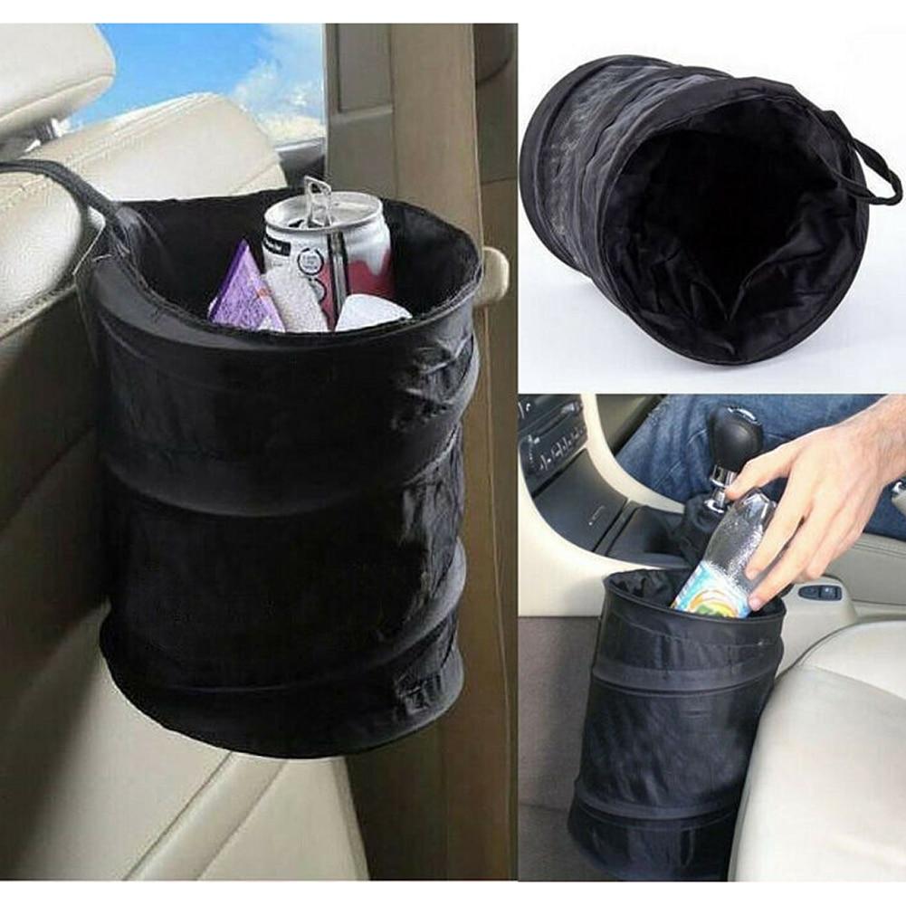 Car Trash Can Waterproof Car Trash Bag Organizer Storage Box Rubbish Bin Box Case Car Garbage Bags Pocket Auto Storage Bags