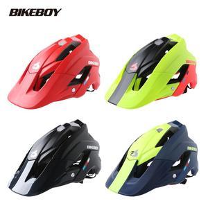 Bikeboy велосипедный шлем для горного велосипеда для верховой езды интегрированный литой велосипед шоссе для мужчин и женщин мужские безопасн...
