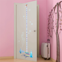 disney frozen princess growth chart wall stickers bedroom home decorations cartoon height measure decals pvc mural art