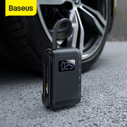 Baseus Car Air Compressor 4000mAh Battery Tire Inflator Protable Electric Car Air Pump Digital Auto Tyre Pump for Motorcycle
