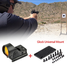 Glock Red Dot Sight Collimator Sight Mini RMR SRO Red Dot Scope Sight 2.5 moa Airsoft Hunting Reflex Sight fit 20mm Weaver Rail rowsfire 1x 30 small metal horn red dot telescopic sight for 20mm rail diy science mechanical aim point with high quality black