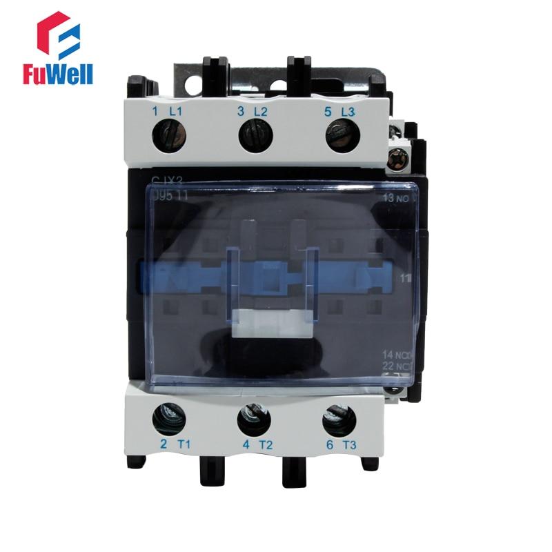 CJX2-9511 95A AC Contactor NO NC Coil Voltage Contactor 24V 36V 110V 220V 380V Normal Open Closed Alternating Current Contactor