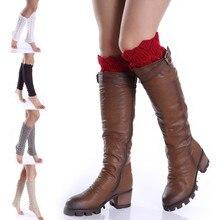 Женские вязаные носки для ботинок из чистой шерсти, длинные носки для ботинок, удобные и прочные носки для отдыха из мягкой кожи