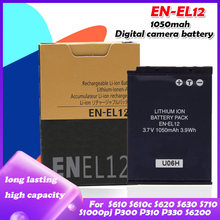 Batterie 1050 EN EL12 pour Nikon CoolPix S610 S610c S620 S630 S710 S1000pj P300 P310 P330 S6200 S6300 S9400 S9500 S9200, EN-EL12 mAh