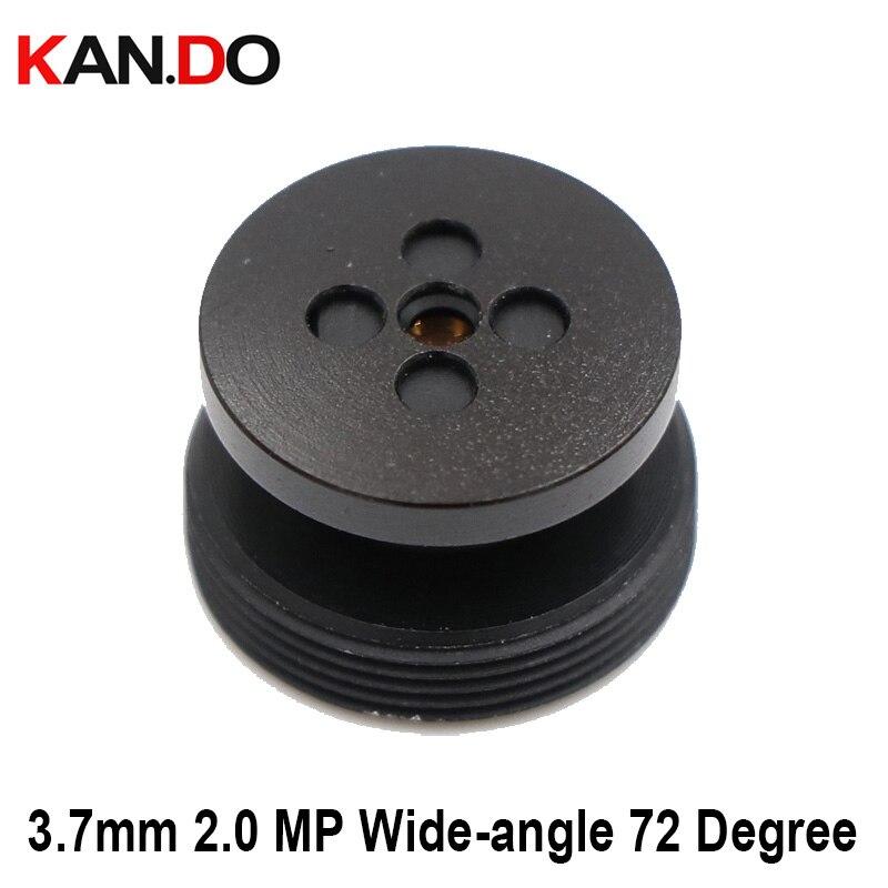 CCTV Camera 3.7mm Lens 2.0 MegaPixel Wide-angle 72 Degree MTV M12 X 0.5 Mount Button Lens For CCTV Security Camera