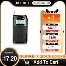 Retekess PR12 Mini Radio de poche FM AM récepteur de Radio numérique 9K/10K lecteur de musique MP3 batterie Rechargeable Radio Portable