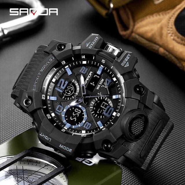 Digital Sanda Shock Sports Wrist Watches