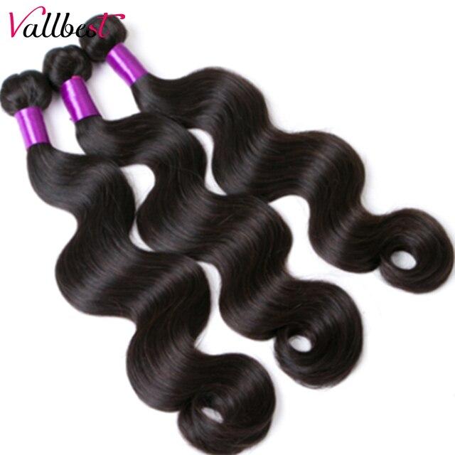 Vallbest Peruvian Body Wave Bundles 100% Remy Human Hair Extensions Natural Color 100G Machine Double Weft 3 Or 4 Bundle Deals 4