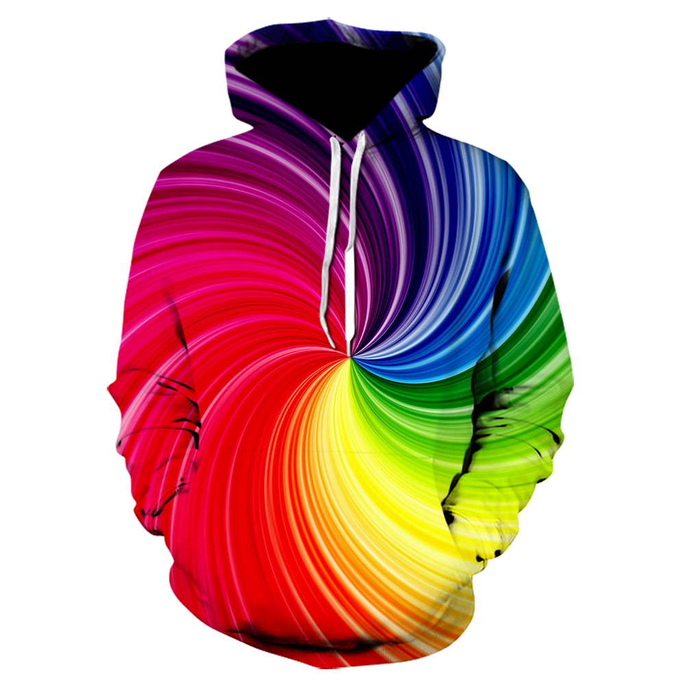 Style Tie Dye Flashbacks 3D Hoodies Mens/Womens Colorful Psychedelic Tie Dye Color 3d Print Mens Pop Hooded Sweatshirts Brand
