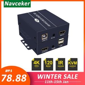 Image 1 - 2020 Best IP di Rete HDMI KVM Extender 200m con Loop di Uscita 1080P RJ45 Porte HDMI Extender IR 660ft HDMI USB Extender Over Cat5e/6