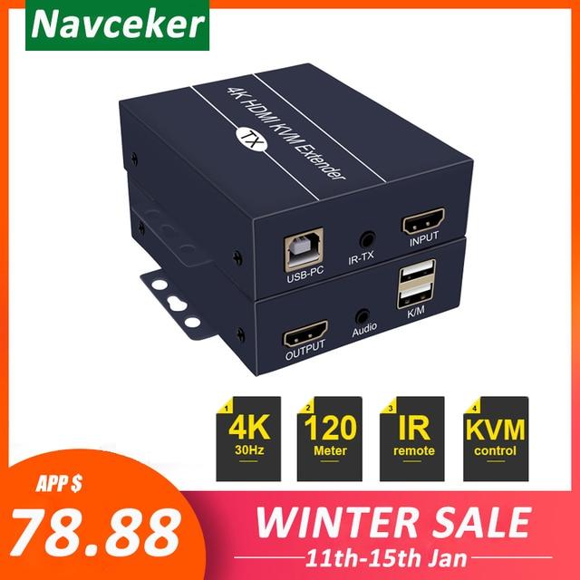 2020 Best IP di Rete HDMI KVM Extender 200m con Loop di Uscita 1080P RJ45 Porte HDMI Extender IR 660ft HDMI USB Extender Over Cat5e/6