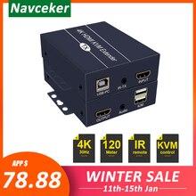 2020 najlepsza sieć IP HDMI KVM Extender 200m z pętlą 1080P RJ45 porty przedłużacz HDMI IR 660ft HDMI USB Extender Over Cat5e/6