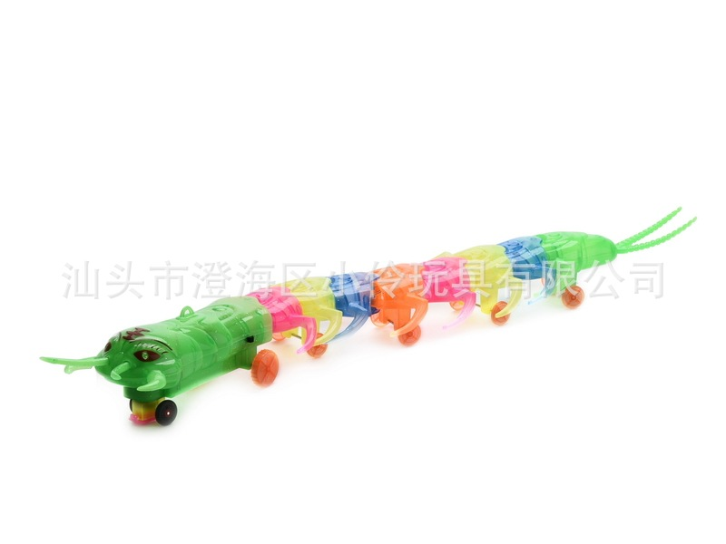 Electric Universal Leash Centipede New Style Luminous Band Music Toy Stall Hot Selling Crawling  Simulated Animal