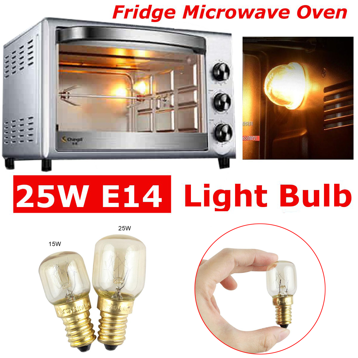 Studyset  220v E14 300 Degree High Temperature Resistant Microwave Oven Bulbs Cooker Lamp Salt Light Bulb