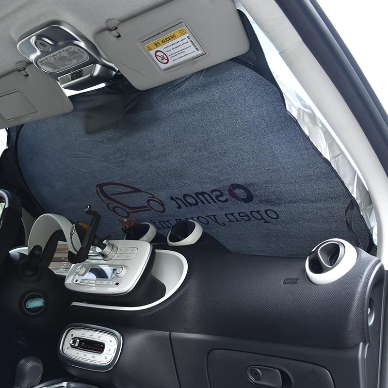 Для Smart Fortwo 453 451 450 Crossblade Roadster Кабриолет город-купе родстер купе Солнцезащитная шторка для автомобиля с роликовым механизмом Солнечная пленк...