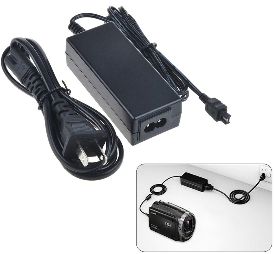 DCR-SR100 AC Power Adapter Charger for Sony DCR-SR90 DCR-SR200 Handycam Camcorder DCR-SR190