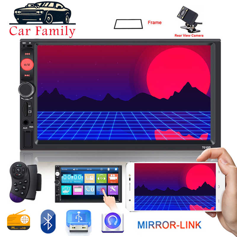 車のラジオ 2 Din ステレオ Bluetooth 7 インチのタッチスクリーンの自動オーディオ Autoradio ミラーリンク FM MP5 USB AUX リアビューカメラ