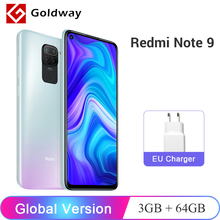 Global Version Xiaomi Redmi Note 9 3GB 64GB / 4GB 128GB Mobile Phone Helio G85 Octa Core 48MP AI Quad Rear Camera 5020mAh