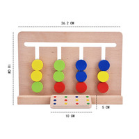 Wooden busy board busyboard for toddlers Color logic Early educational Montessori toy for kids bebe baby 24 months