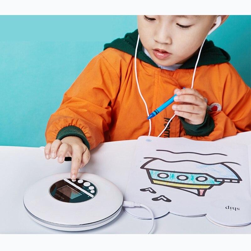Lecteur CD 3C-Portable chaud, pour adultes étudiants enfants lecteur CD disque Compact personnel avec prise casque, baladeur avec écran LCD