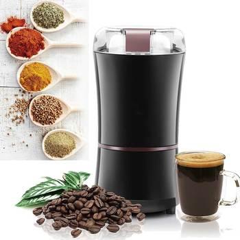 Kuchnia elektryczny młynek do kawy 400W Mini sól młynek do pieprzu potężne przyprawy orzechy nasiona maszyna do mielenia ziarna kawy elektroniczne tanie i dobre opinie OLOEY CN (pochodzenie) Electric Coffee Grinder Szlifierek zadziorów (stożkowe) Other Elektryczne