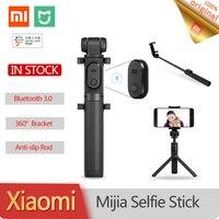 Treppiede pieghevole originale Xiaomi flessibile Selfie Stick Bluetooth e pulsante Wireless otturatore remoto per telefono IOS e Android