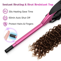 9mm Professional Curling Iron Ceramic Curling Wand Roller Beauty Styling Tools With LCD Display Hair Curlers Unisex Slim Tongs 4
