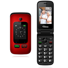 מקורי YINGTAI T22 3G MTK6276 GPRS MMS גדול לדחוף כפתור בכיר טלפון Dual SIM הכפול להעיף מסך עבור הבכור 2.4 אינץ