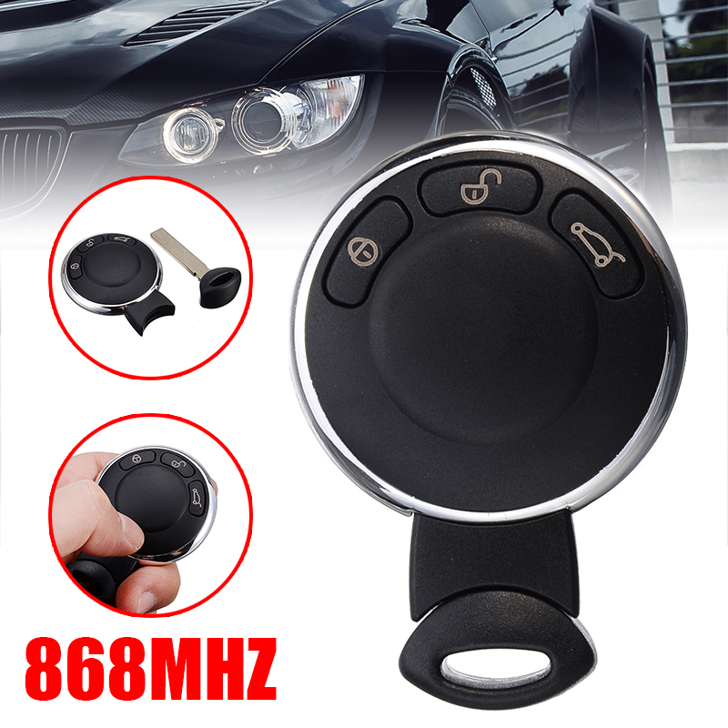 3 button Replacement smart Remote Key Case Fob Shell Replacement Keyless Entry Remote Key Cover For BMW Mini Cooper 2007-2014
