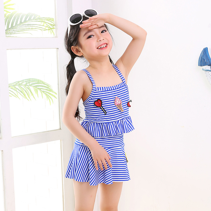 3-6-Year-Old Girl 3 Dacron 4 Bathing Suit 5 Cute 6 Children Girls Swimwear Children Children Fashion