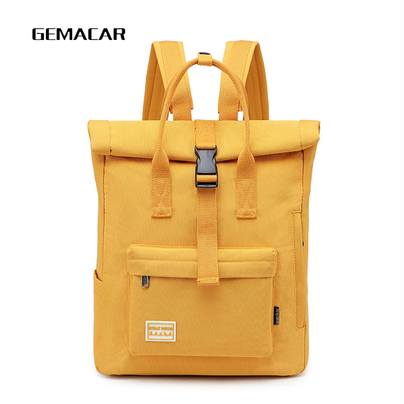Fashion Youth Backpack Personality Casual Canvas Bagpack Unisex Large Capacity Tablet Bag Student Bag Literary Trend Backpack
